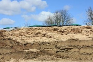 Temporary silage clamp from Duchy College Home Farm