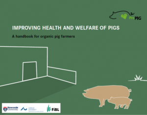"""This handbook for organic pig farmers has been produced as part of the CoreOrganic11 """"ProPigs"""" project to support farmers in their daily work to keep healthy pigs and to recognise potential symptoms early to avoid suffering. The advice and information is not solely for organic farmers and will apply to all pig farmers interested in sustainable and high welfare farming."""